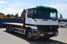 Mercedes-Benz Actros 2325 6x2 rigid flatbed