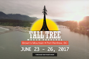 Tall Tree Music Festival (full weekend, early access + camping)
