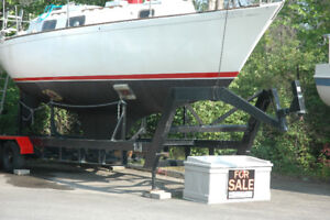 Price Reduced Sailboat and Foldable Steel Cradle $7,600
