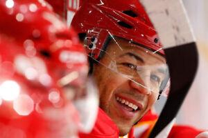 3 Calgary Flames vs Minnesota Wild-Iginla Retire -Sec 217,Row 19