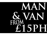 Available VAN TODAY Man and Van Hire £15ph Call NOW REMOVALS SERVICES