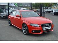 2008 58 AUDI A4 2.0 TDI S LINE 4D 141 BHP BLACK EDITION*****ONLY 80,000 MILES***