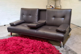 Leather Sofa & Sofa Bed - Excellent Condition