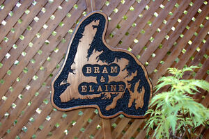 SIGNS WOOD ROUTED HAND CARVED CUSTOM St. John's Newfoundland image 1