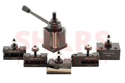 "Shars 10 - 15"" CNC Lathe BXA Wedge Quick Change Tool Post Set 250-222 Aloris New"