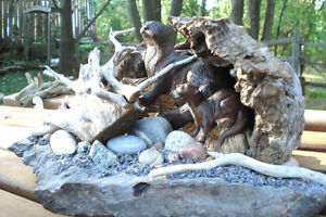 3-D Hand Crafted Table Sculpture - Otters Along Rivers Edge Peterborough Peterborough Area image 10