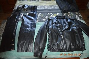 Like New Men's Classic Motorcycle Jacket & Chaps