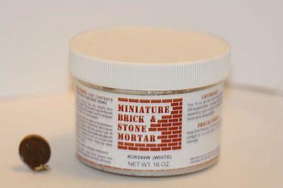 Dollhouse Brick & Stone Mortar in White (16 oz.)