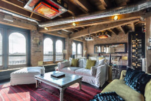 luxurious Old Montreal condo with waterfront views