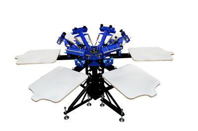 Screen Printing Press 6 Color 6 Station Printer Double Rotary Press Machine
