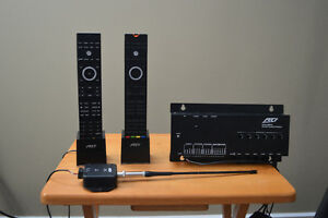 RTI audio system with two remotes