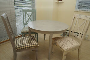 Mix & Match Shabby Chic Solid Wood Dining Chairs For Sale