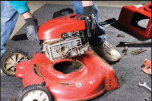 Old unwanted lawn mowers, grass trimmers, snow blowers.....