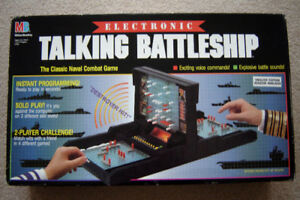 Milton Bradley 1989 Electronic Talking Battleship
