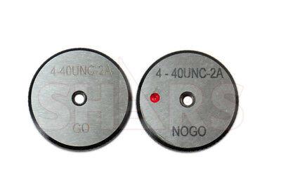 Shars 4-40 Unc Go No-go Thread Ring Gage 2pcs Set New