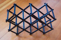 Vintage collapsible wooden wine rack