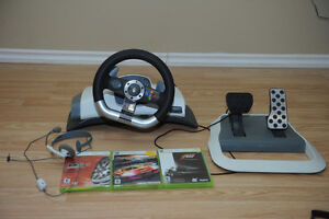 Driving add ons for xbox 360 plus 3 games