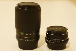 Pentax M 50mm & Vivitar 70-210mm 1:4.5 Macro Focusing Zoom