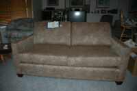 couch and 2 stools