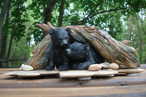 3-D Table Sculpture, Hand Crafted Baby Bears