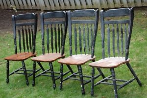 4 Large Wood Chairs - FREE