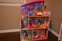 Barbie House, Barbies and Accessories