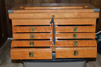 Machinists Tool chest , made of Maple  in 1950