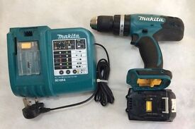 MAKITA 18 VOLT CORDLESS DRILL NEARLY LIKE NEW FOR SALE