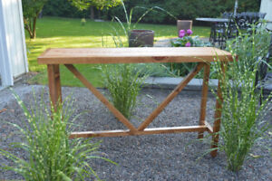 Reclaimed Granary board console table