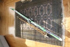 Karhu cross country skis and sticks