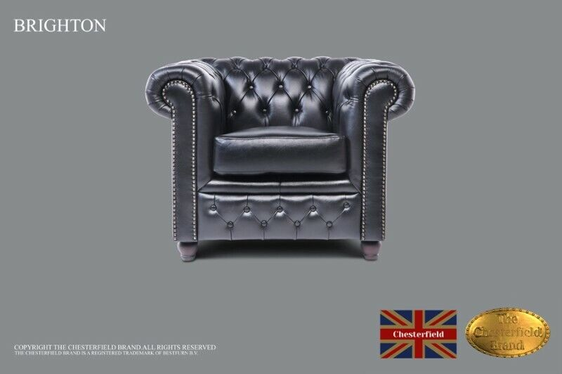 Chesterfield Armchair -The Chesterfield Brand Authentic -Vintage black -Real leather -HANDMADE