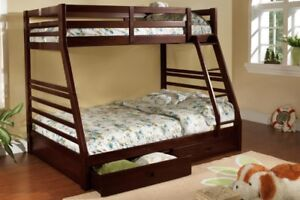 Titus Twin Over Double Bunk Bed w/ Storage (T2700)