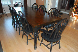 Pine Harvest Table and 8 Chairs