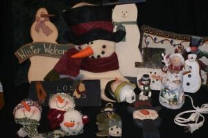 BOX LOT of SNOWMEN