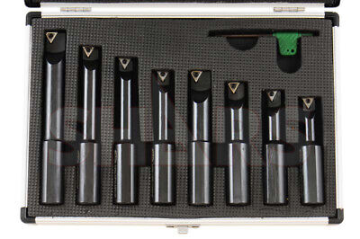 Shars 34 Shank 8 Pieces Indexable Boring Bar Set W Free Tcmt Inserts New A