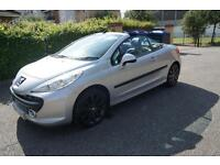 Peugeot 207 CC 1.6 16v 120 Coupe GT Siver manual SIX MONTHS WARRANTY!