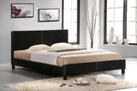 NEW! Faux Leather Platform Bed. 2 colors! Free Delivery