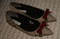 AUT. BURBERRY WOMEN'S SHOES 38.5 MADE IN ITALY