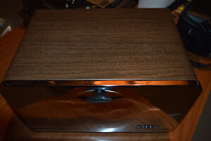 Vintage Mid-Century Metal/Faux Wood Breadbox (Bread Box)
