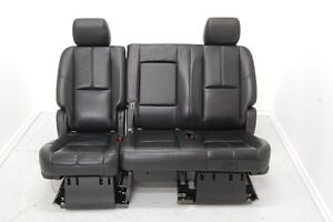 Chev Suburban Yukon Tahoe XL 2nd Row Bench BLACK LEATHER