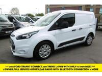 2015 FORD TRANSIT CONNECT 200 TREND L1 SWB 1.6TDCI IN WHITE WITH ONLY 47.000 MIL