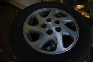 Alloy rims and tires  15inch