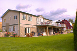 Coldstream 4.3 Acres, w/ 2 homes, plus Barn, Valley & Lake View