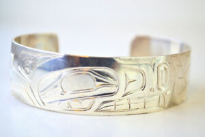 Sterling Silver Native Carved Cuff