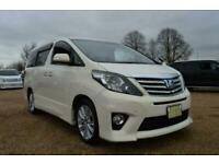 FRESH IMPORT NEW SHAPE LATE 2008 TOYOTA ALPHARD AUTOMATIC PEARL WHITE