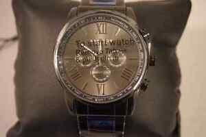 Akribos black stainless steel men's watch