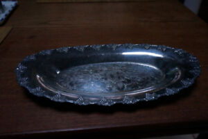 NICE OVAL TRAY SILVER PLATED  W A ROGERS