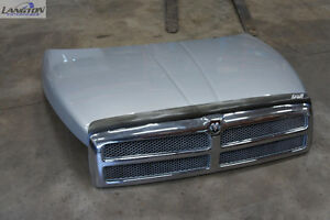 Hood with Grill 94-02 Dodge Ram Pickup