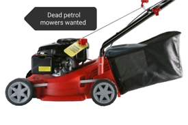 Dead or alive lawnmowers and petrol tools