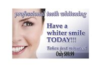Teeth Whitening for Men and Women professionally done.$89.99